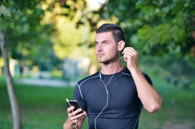 Man getting ready for jogging