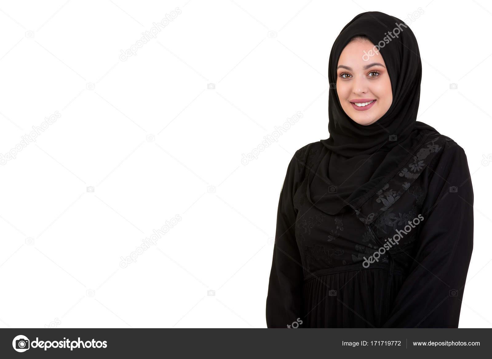 9ffe36e8c Joven mujer vistiendo ropa de árabe tradicional hijab — Fotos de ...