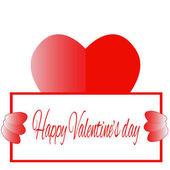 Šťastný Valentýna červené srdce