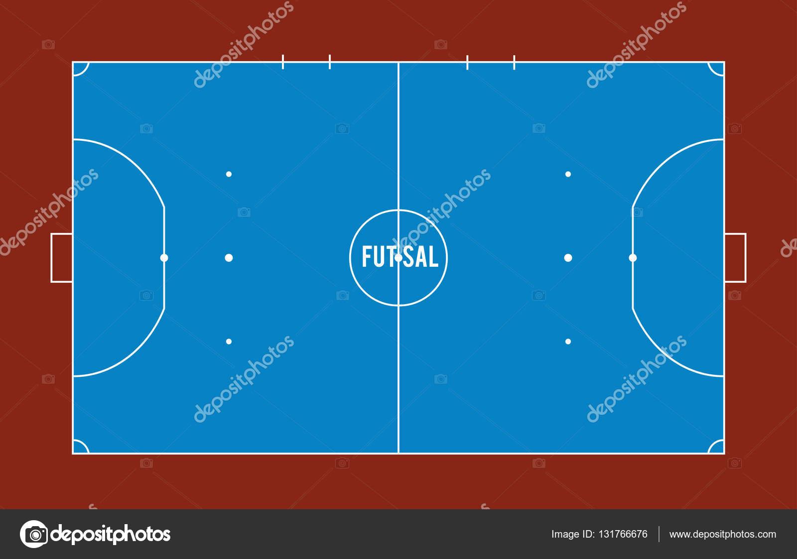 Futsal campo ou Tribunal ilustração vetorial vista superior — Vetores de  Stock 31f4bcfdbfeea