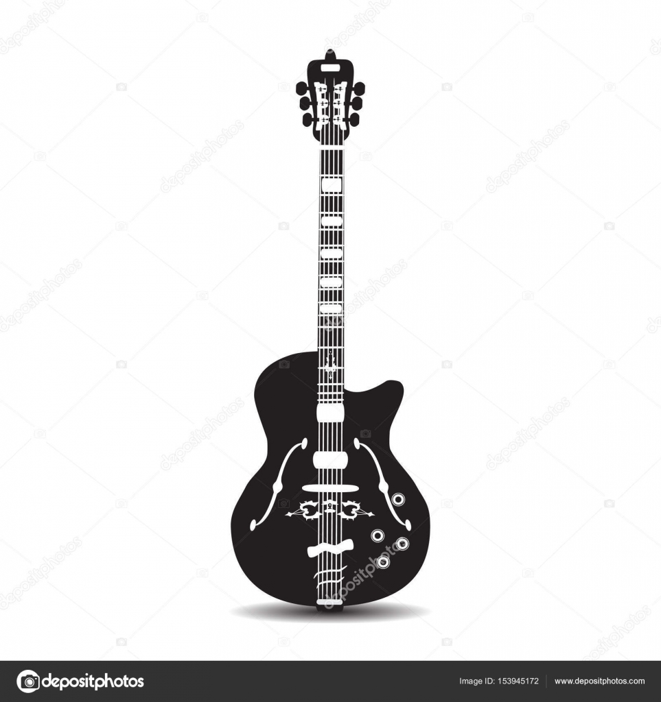 Electric Guitar Vector Illustration In Flat Style Stock Vector