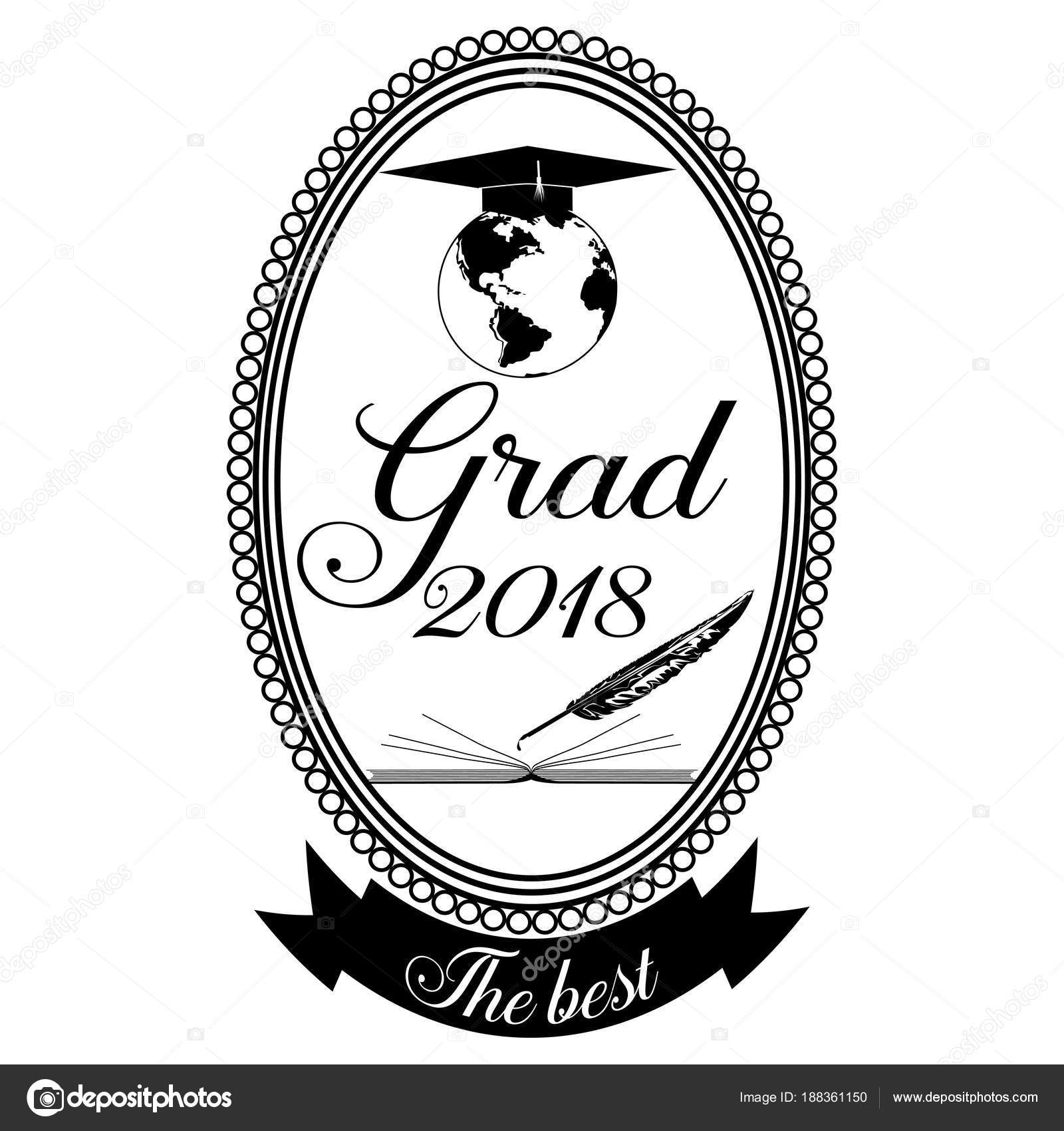 Graduation emblem, badge design template — Stock Vector © svitlana ...