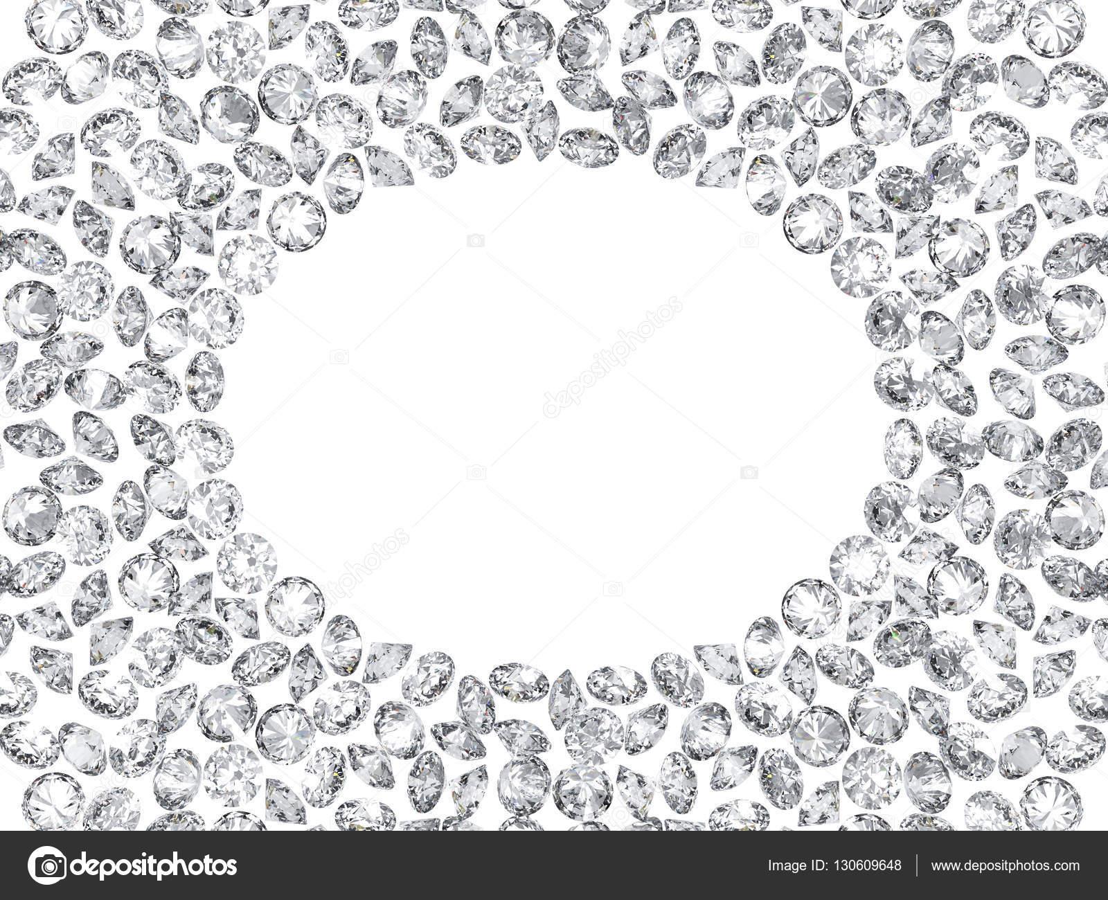 3D Diamanten Rahmen auf weißem Hintergrund — Stockfoto © 3djewelry ...