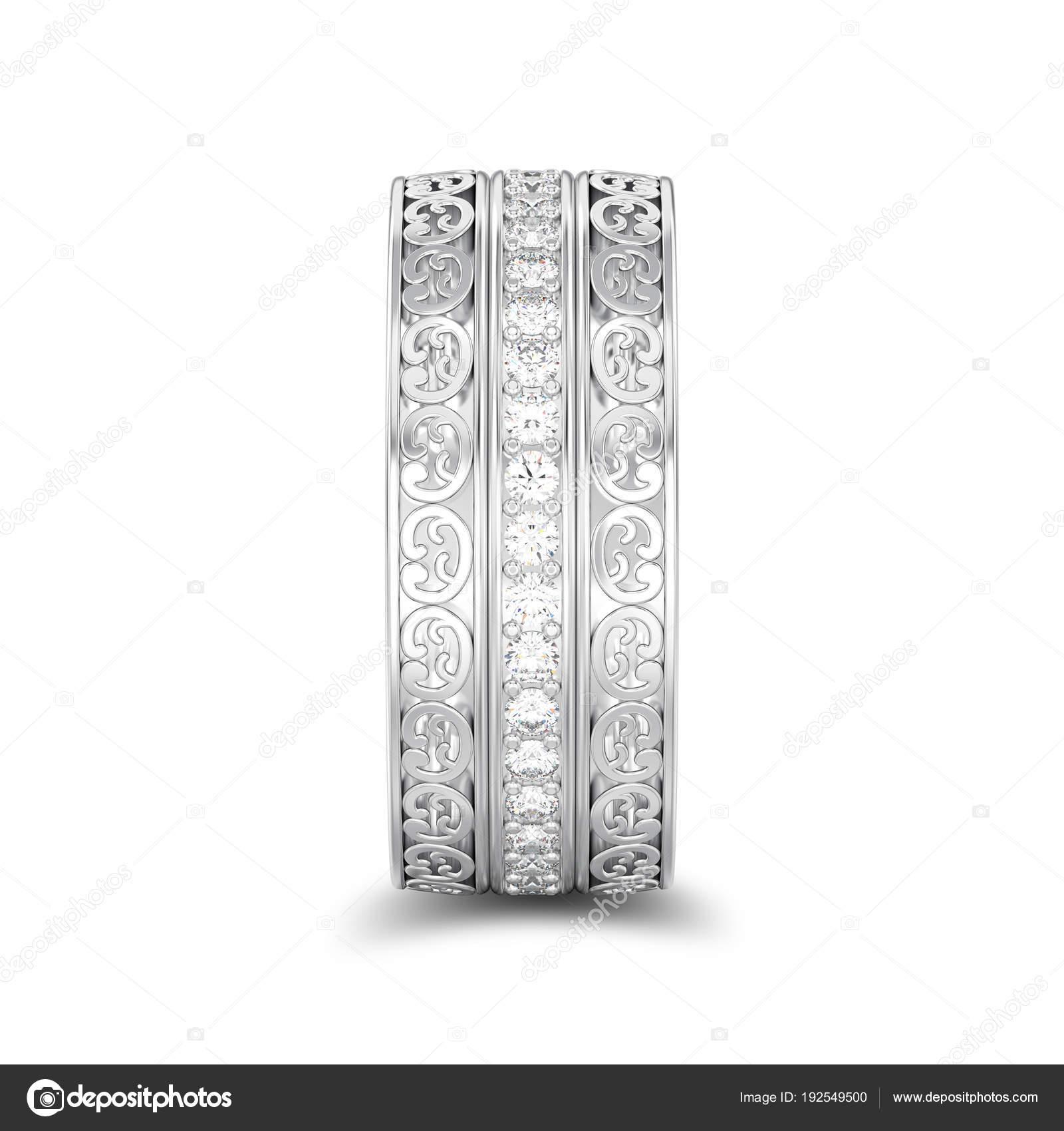 3d Obrazek Samostatny Stribrny Dekorativni Snubni Prsteny