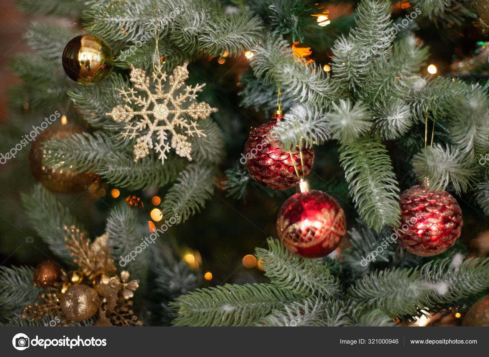 New Year Christmas Background Spruce Christmas Decorations Red Green Gold Lights Bokeh Holiday Concert 2019 2020 2021 Stock Photo Image By C Zaktatyana 321000946