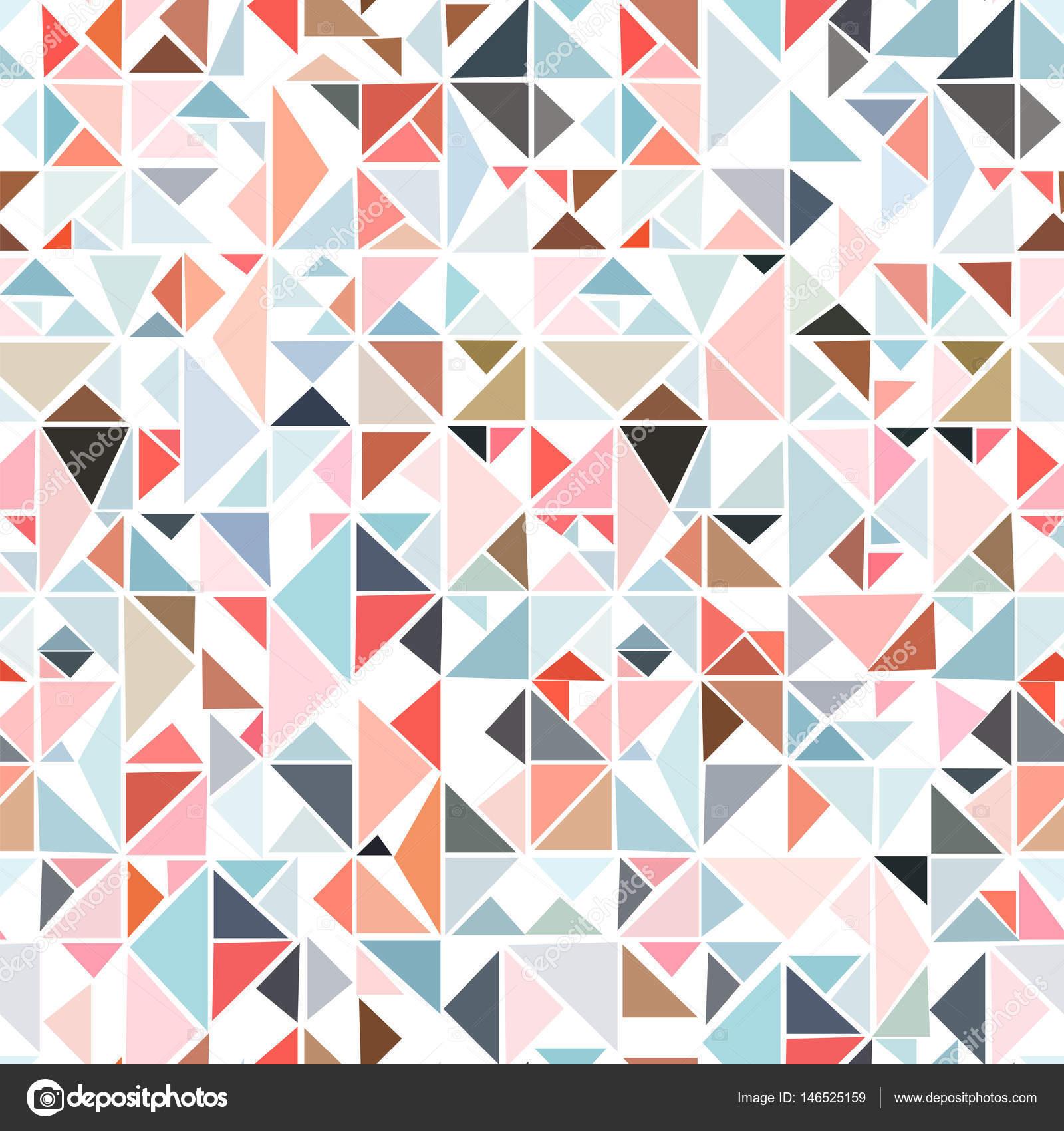 三角形からシームレスの幾何学模...