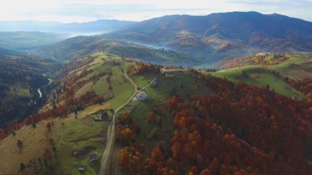 Letecký záběr horský Les