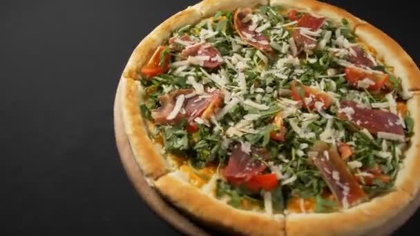Zavřít pohled chutné pizzy