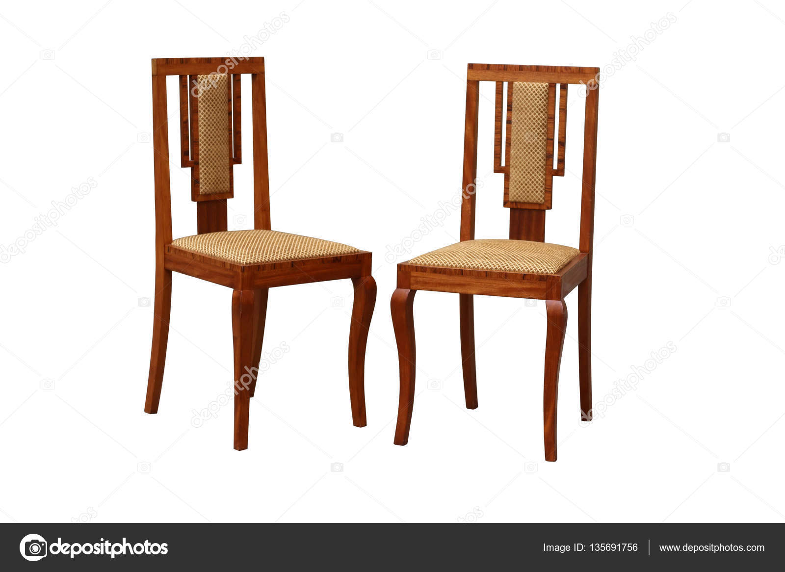 Old art deco chair stock photo