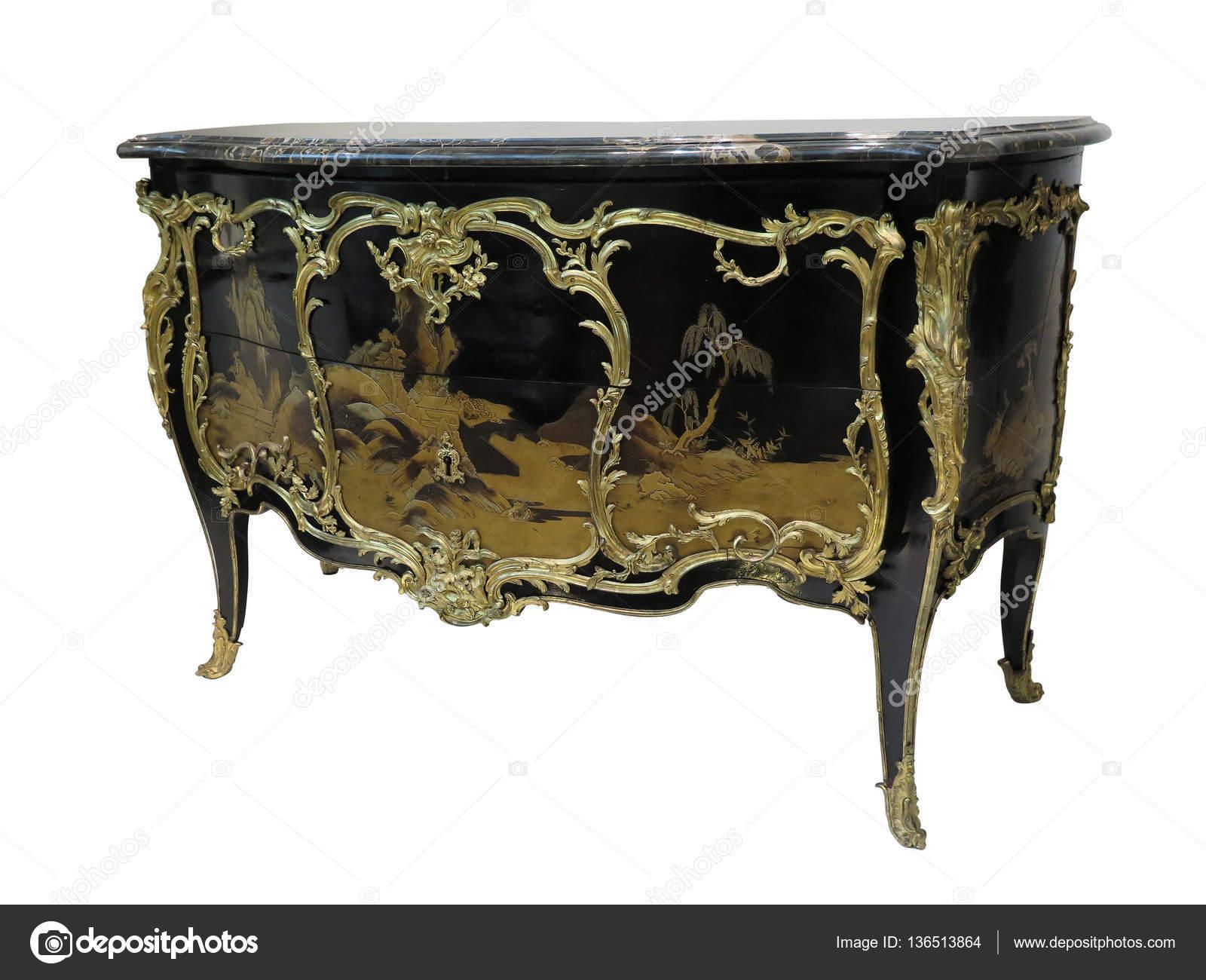 Antike Kommode Bekannt Als Kommode Holz Intarsien Messingbeschlage