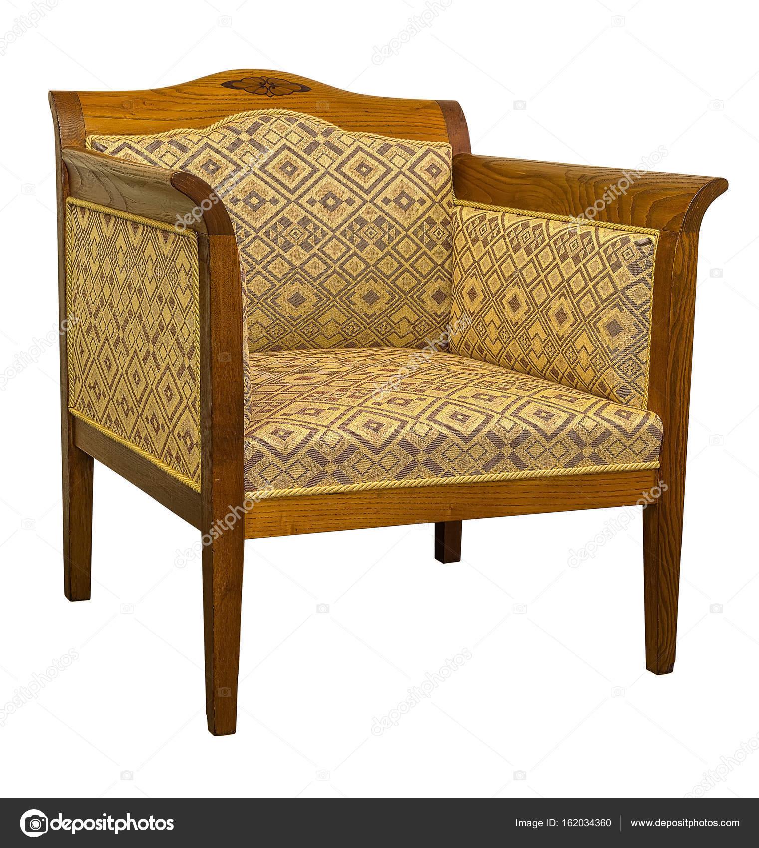 vintage art deco furniture. Vintage Art Deco Chair Sofa Isolated On White Background \u2014 Stock Photo Furniture R