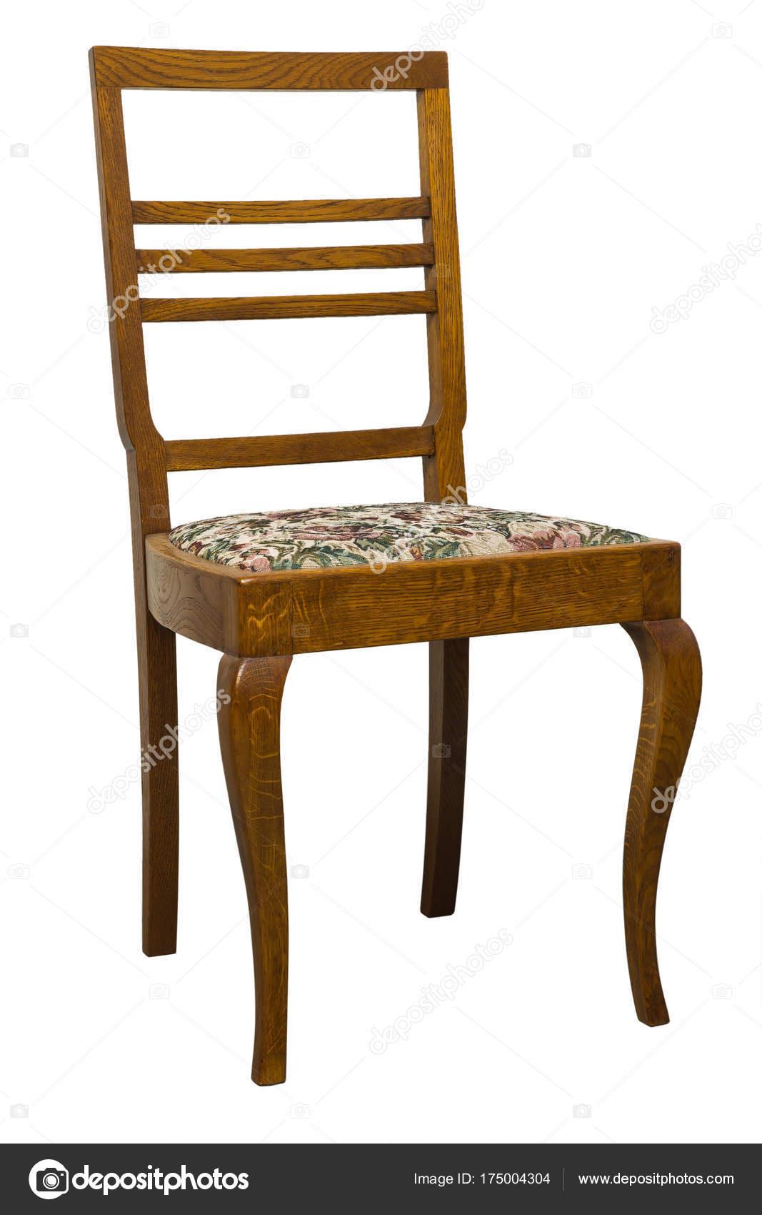 Vintage Jugendstil Stuhl Isoliert Auf Weissem Hintergrund