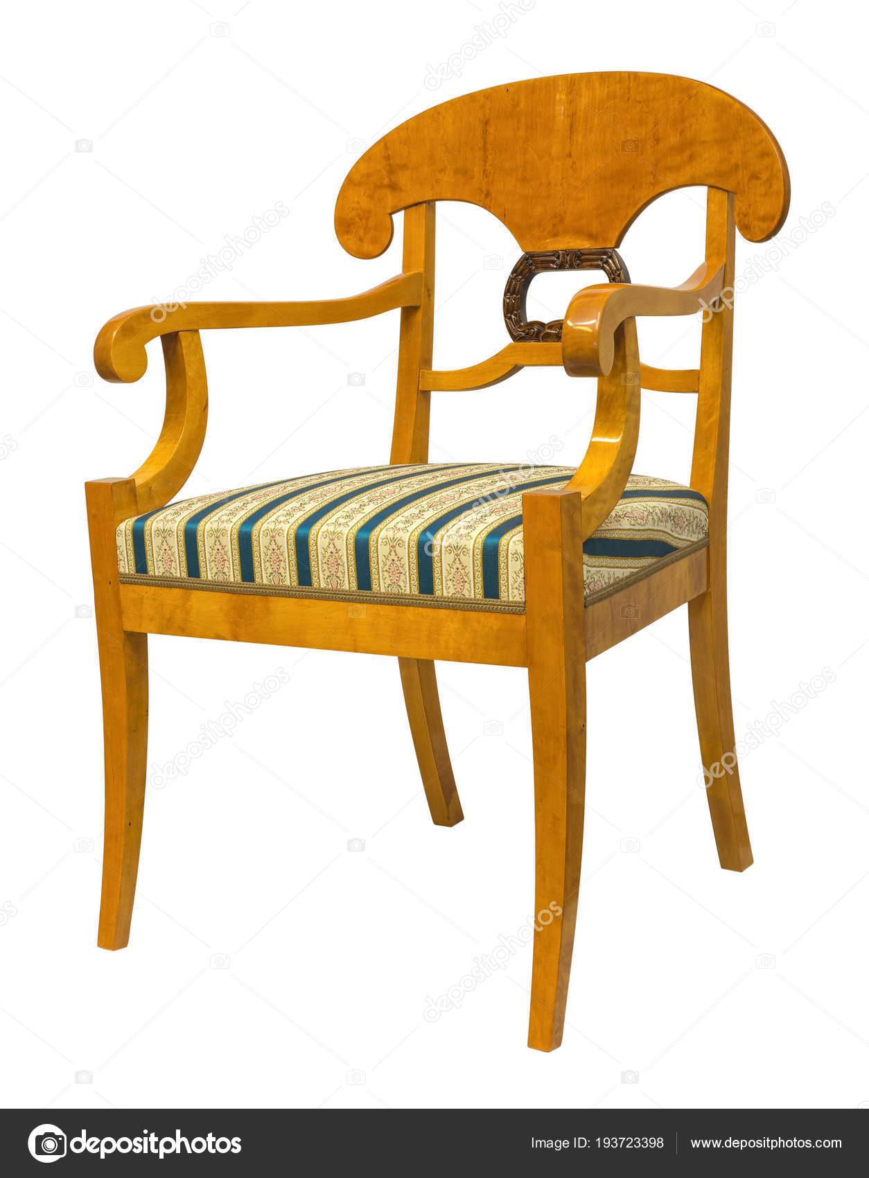 Antike Biedermeier Stil Stuhl Mit Holz Schnitzerei