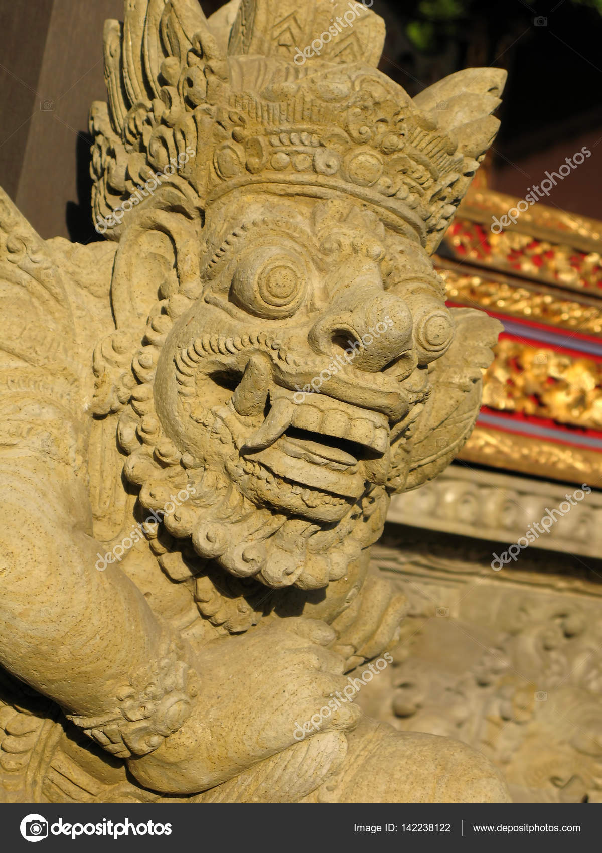 The stone idol in the temple of Bali island. — Stock Photo © atdigit ...