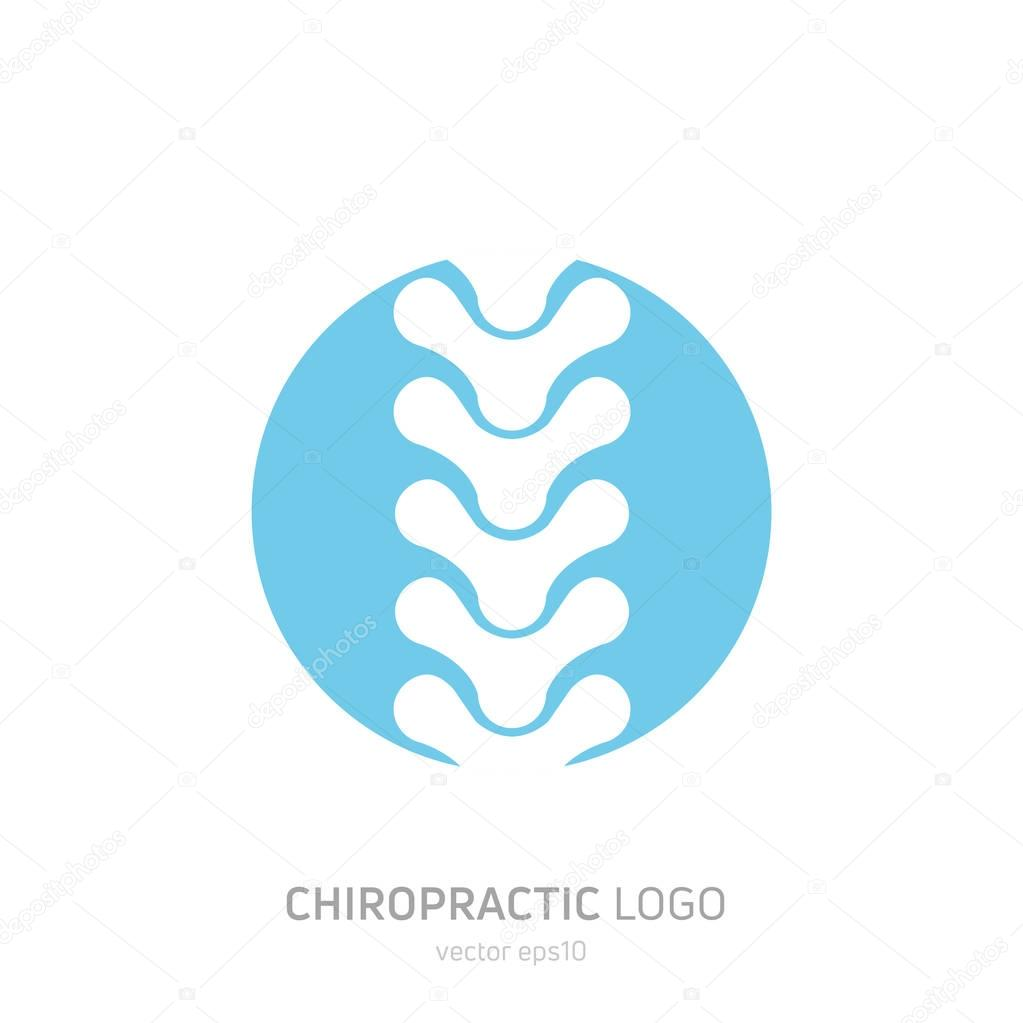 Manual therapy logo. Chiropractic and other alternative medicine. Doctor's office, training courses