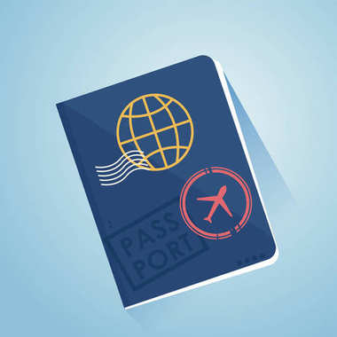 International foreign passport. Document for travel, open visa