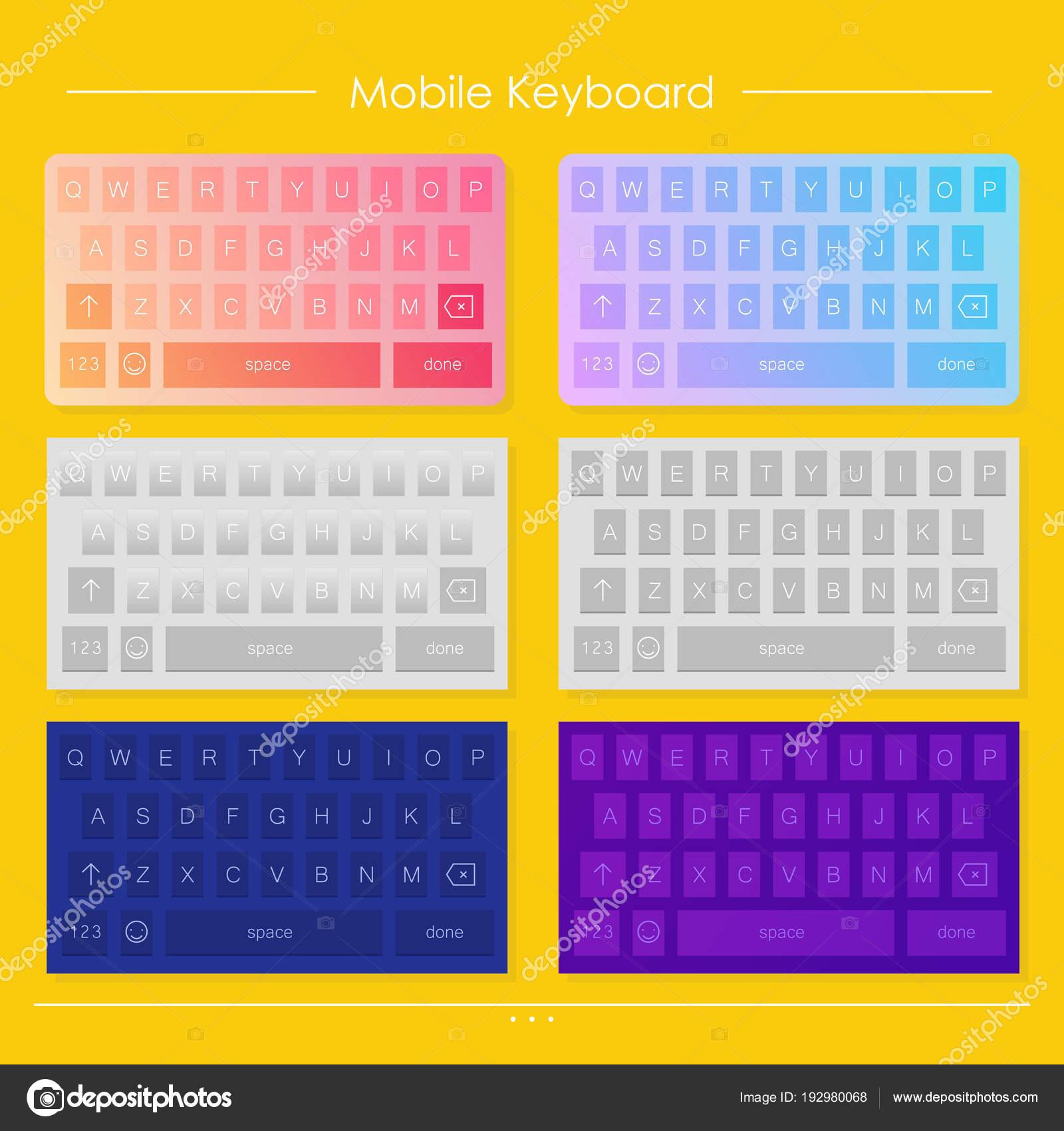 Plantilla de diseños móviles teclado — Fotos de Stock © annetdebar ...