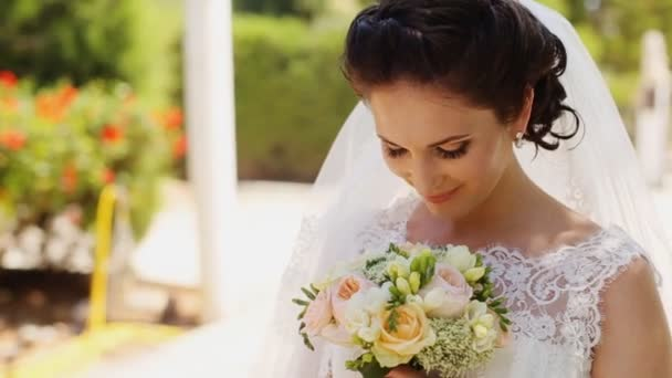 Páchnoucích nevěsta svatební kytici venkovní