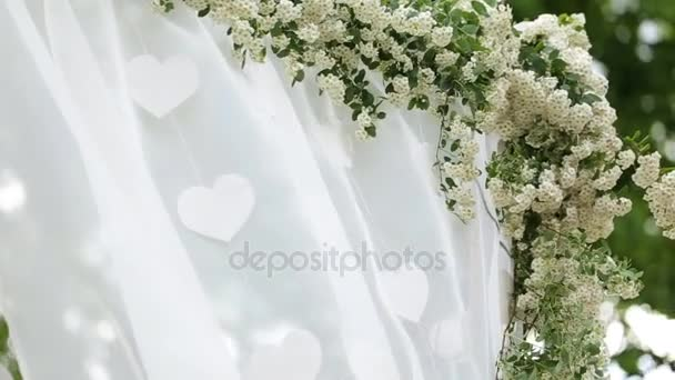 Wedding flower arch decoration wedding arch decorated with wedding flower arch decoration wedding arch decorated with flowers stock footage junglespirit Choice Image