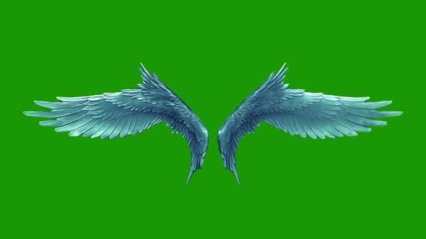 Fiflena křídla andělů smyčka 3d rendrování animací