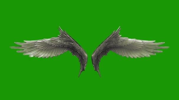 Mávání křídel stříbrná nit 3d rendrování animací