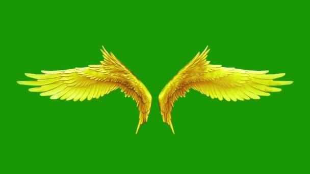 Mávání křídel Gold smyčka 3d rendrování animací