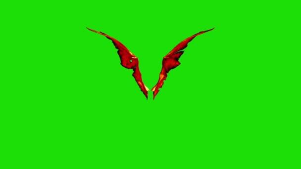 Devil Red Demon křídla rychle zelené obrazovky 3d rendrování animací