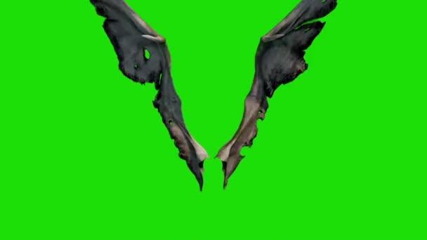 Démon Devil křídla rychle fabion přední 3d rendrování animace