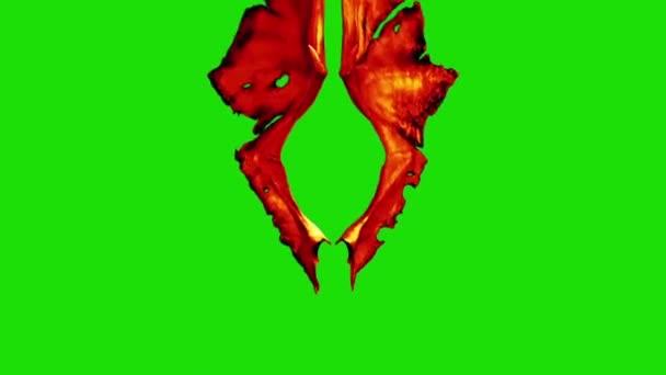 Devil Red Demon křídla fabion přední 3d rendrování animace
