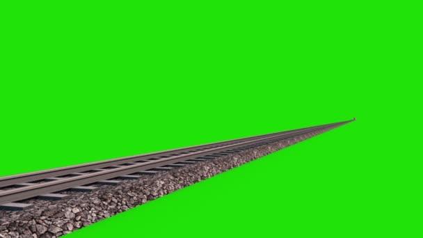 Train Speed Maglev 3D Rendering Green Screen