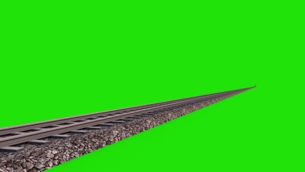 Trénovat rychlost Maglev světlomety 3d vykreslování zelená obrazovka