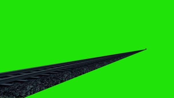 Vlak Maglev noční rychlost 3d vykreslování zelená obrazovka