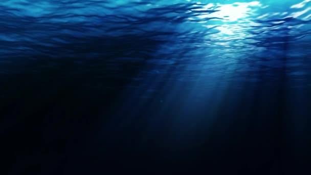 Sfondo Animato Profondità Oceano Mare Sott Acqua Video Stock