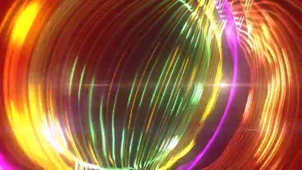 Színes részecske körkörös villanás könnyű hurok mozgó háttér