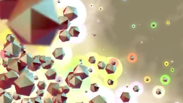 Színes elem 3d részecskék animált háttér