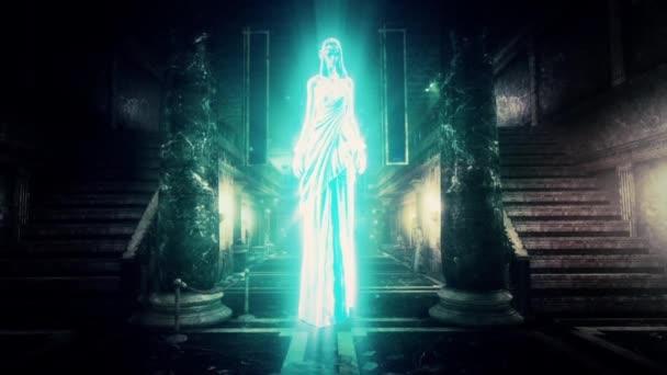 Ghost bohyně božské zjevení animovaný 3d animace vykreslování na pozadí