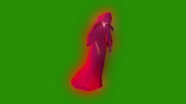 Ghost fantom személy Witch repülés ciklus zöld képernyő 3d Rendering animáció