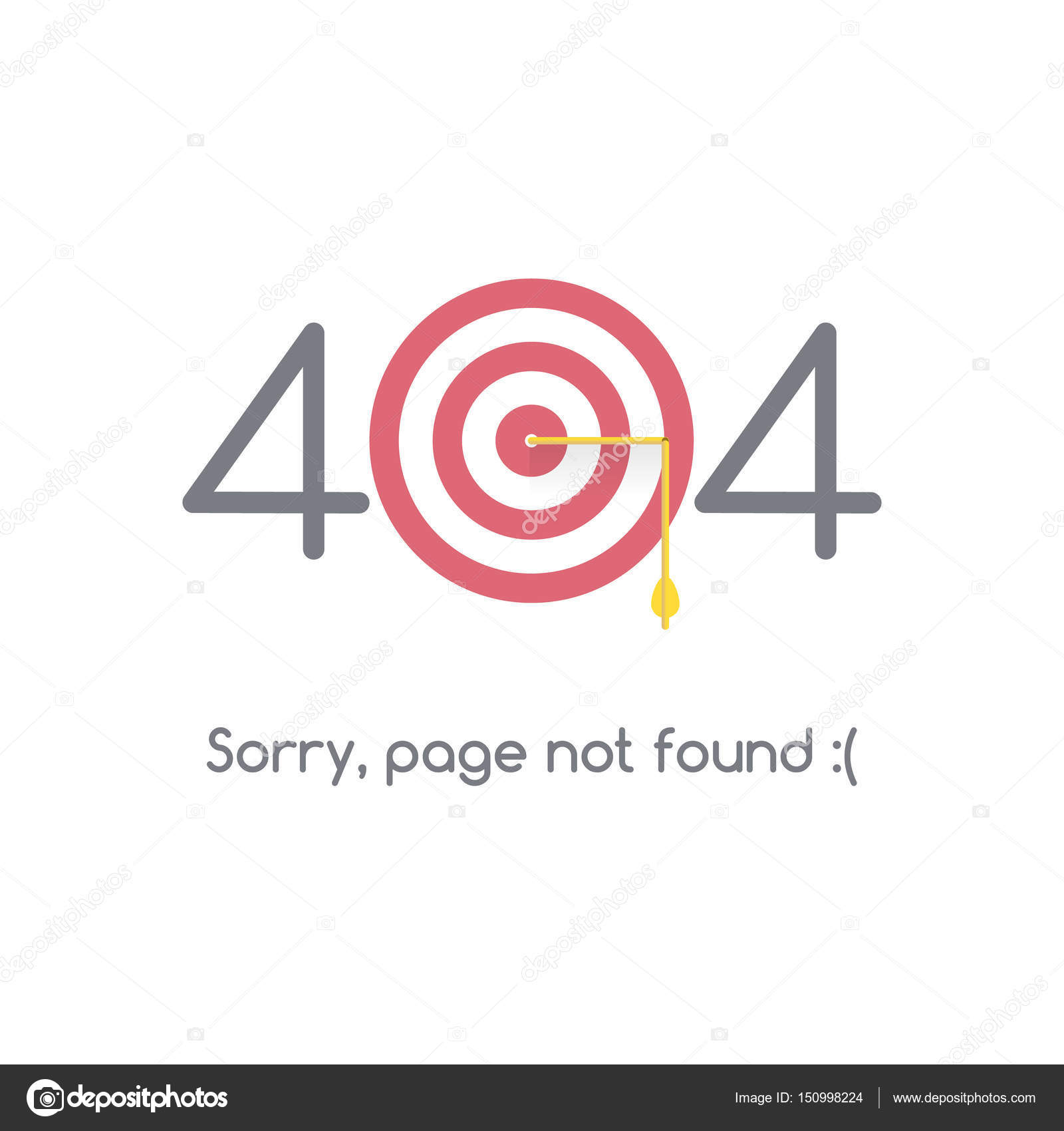 Error 404 Page Not Found Stock Vector Apoev 150998224