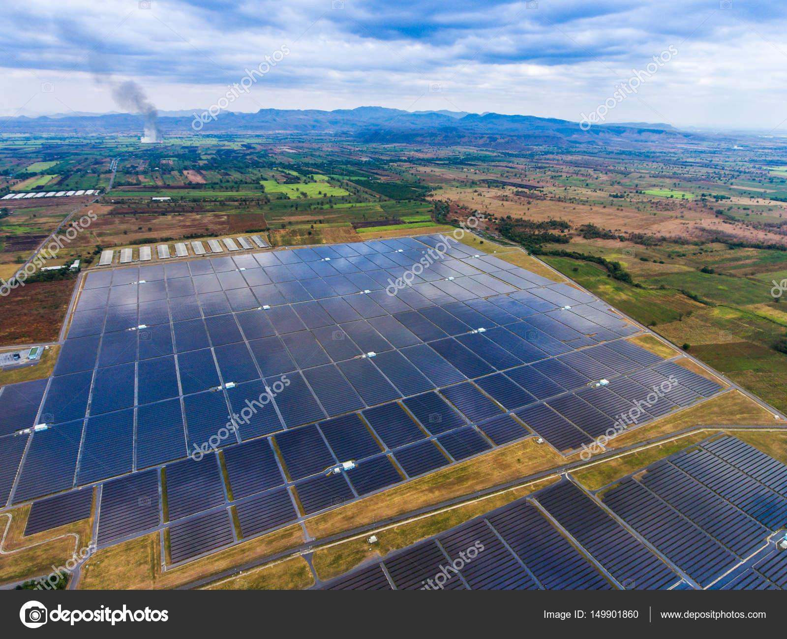 Aerial View Solar Farm , Solar Panels — Stock Photo