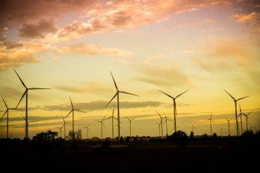 Wind Turbine Farm, Wind Energy Concept.