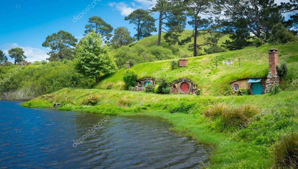 """Atak W Nowej Zelandii Film Gallery: Hobbiton Filmu """"Hobbit"""", W Nowej Zelandii"""