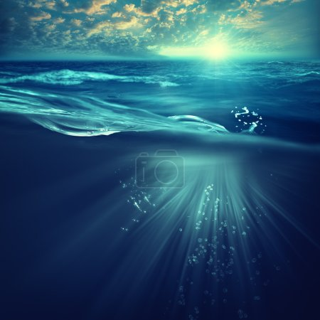 background with waves and sea surface