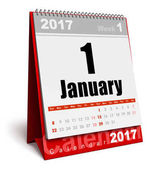 January 2017 New Year calendar