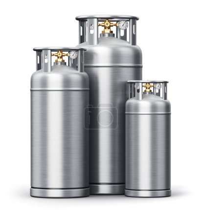 Stainless steel high pressure industrial containers for liquefie