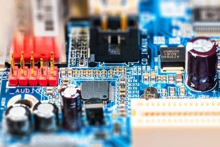Creative abstract electronic industry business tec...