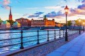 Scenic sunset in Stockholm, Sweden