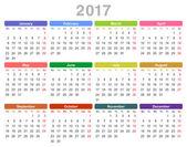 2017 year annual calendar (Monday first English)
