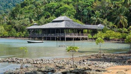 Tropical beach on island