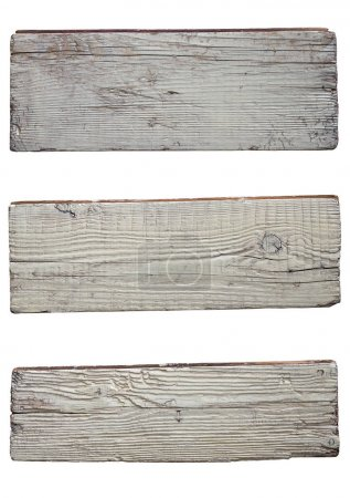 Old white wooden boards