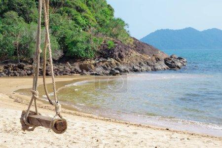 Seesaw on the sand beach